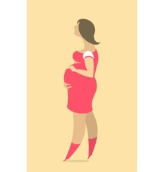 Stylized Pregnant Woman vector