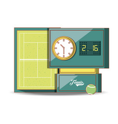 tennis scoreboard with ball vector image