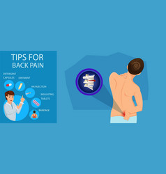 tips for back pain vector image