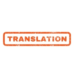 Translation Rubber Stamp vector image