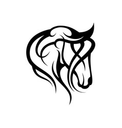 Tribal head horse vector