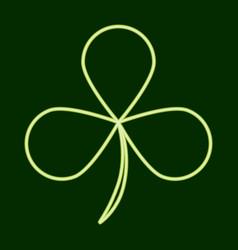 Trilous clover stpatrick s day vector