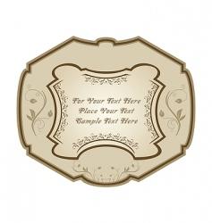 vintage label wine vector image