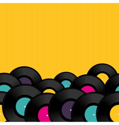 Vinyl record background vector image