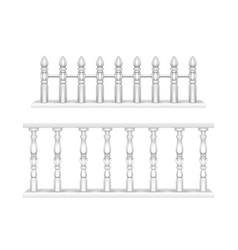 White marble balustrade handrail for balcony vector