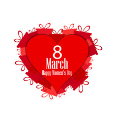 8 march day international womens day hearts vector image