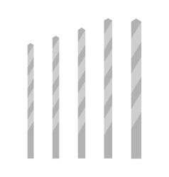 Metal drill bits of different sizes vector image