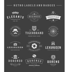 Retro Logotypes set vintage graphics design vector image