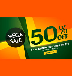 Stylish sale banner design with offer details for vector