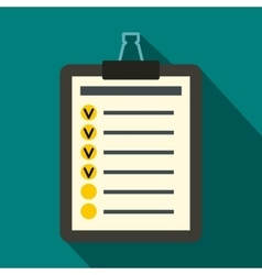 To do list icon flat style vector image vector image