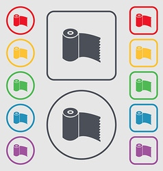 Toilet paper WC roll icon sign Symbols on the vector image