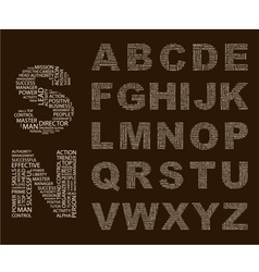 Typographics Font vector image vector image