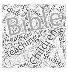 Bible studies for children word cloud concept vector