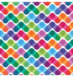 colorful geometrical abstract seamless pattern vector image