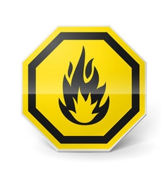 Highly flammable sign vector image vector image