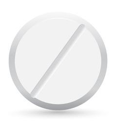 pill closeup vector image