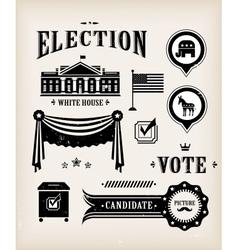 usa election icon set vector image
