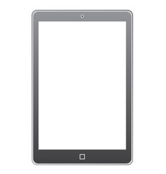 blank tablet on white background vector image