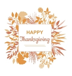 Flat design style Happy Thanksgiving card template vector image vector image