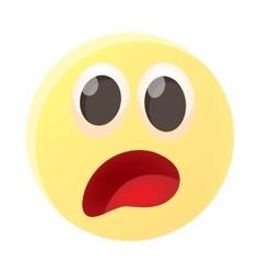 Frightened emoticon icon cartoon style vector image vector image