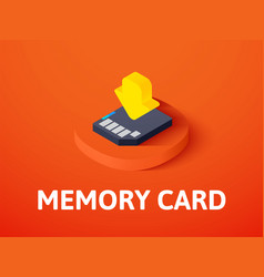 memory card isometric icon isolated on color vector image