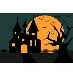 Of A Halloween Castle vector image