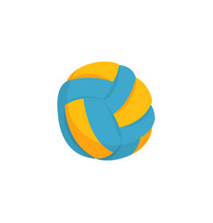colorful beach volleyball ball icon isolated on vector image