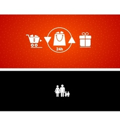 gift buying and presenting vector image