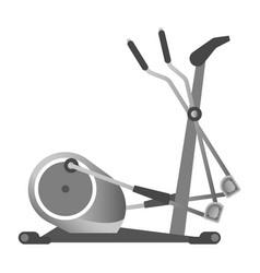 gym fitness equipment elliptical trainer exercise vector image