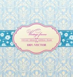 invitation vintage label vector image vector image