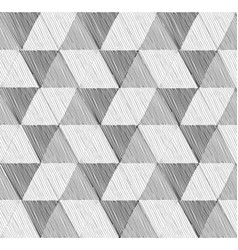 seamless geometric pattern set in retro style vector image
