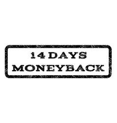14 days moneyback watermark stamp vector