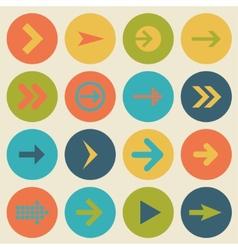 Arrow sign icon set flat design web design vector
