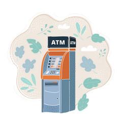atm card machine cash vector image