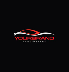 autocar logo template vector image