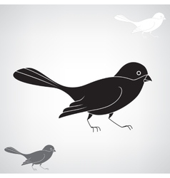 Black silhouette of a bird vector image