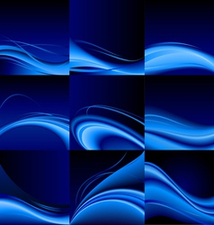 Blue waves vector image