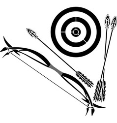 bow and target vector image vector image