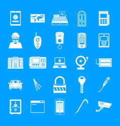 Burglar robber plunderer icons set simple style vector