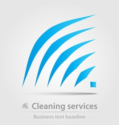 Cleaning service business icon vector