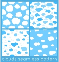 Clouds seamless pattern set vector
