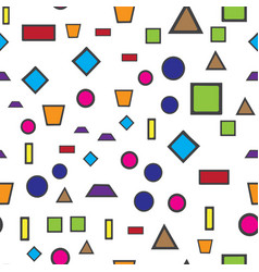 Colorful abstract seamless pattern simple style vector