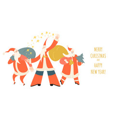 congratulatory banner for christmas and new year vector image