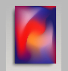 Dark blue and red gradient poster vector