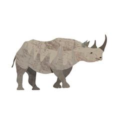 detailed of an adult rhinoceros in a vector image