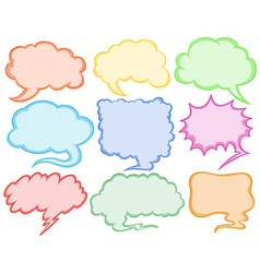 Different designs of speech bubbles vector image