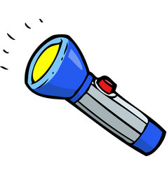 Doodle blue flashlight vector