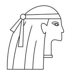 Egyptian style woman icon outline style vector image