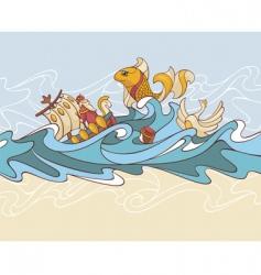 fairytale background vector image