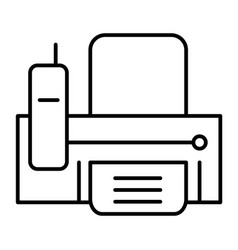 Fax thin line icon print vector